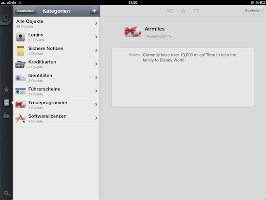 1Password Kategorien