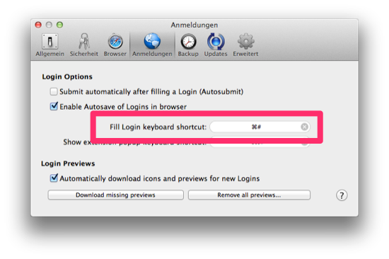 1Password Shortcut