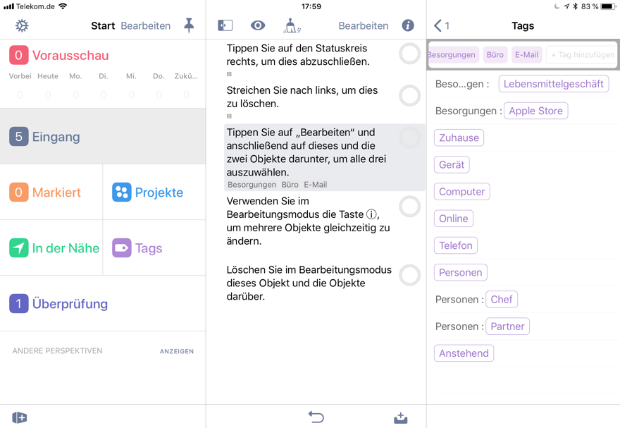 Mac Business Coaching - OmniFocus 3 für iOS bringt Stapel ...