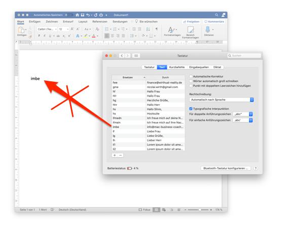 Mac Business Coaching Was Für Ein Schwachsinn Apple Textersetzungen Funktionieren Nicht In Microsoft Office Produkten Auf Dem Mac