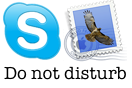Skype und Mail do not disturb