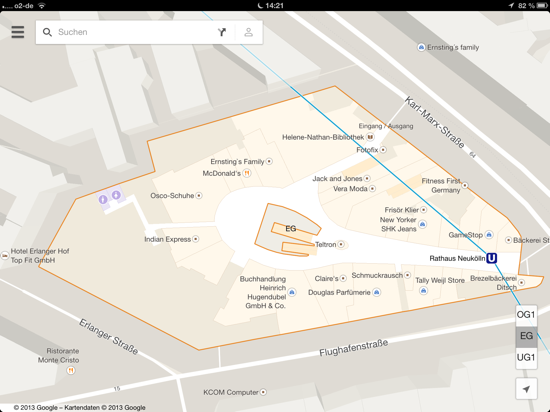 Google Maps Indoor Map