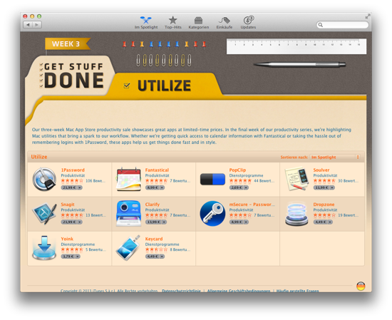 Mac App Store Promotion Utilize
