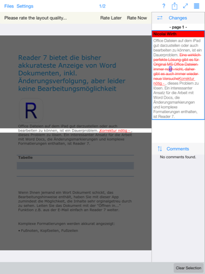 Reader 7 in Aktion