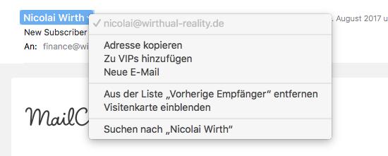 Mac Business Coaching Vips In Macos Mail Anlegen Und